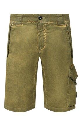 Мужские хлопковые шорты C.P. COMPANY хаки цвета, арт. 08CMBE241A-005694S | Фото 1