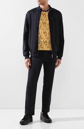 Мужская хлопковая футболка BILLIONAIRE золотого цвета, арт. I20C MTK4363 BTE014N   Фото 2
