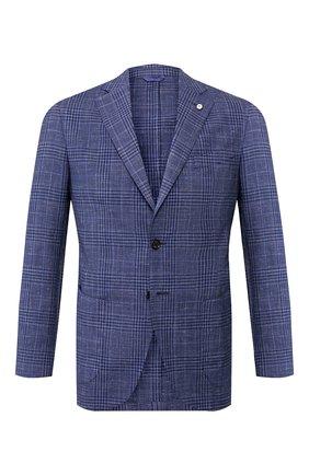 Мужской пиджак из смеси шерсти и льна L.B.M. 1911 темно-синего цвета, арт. 2887/05821 | Фото 1