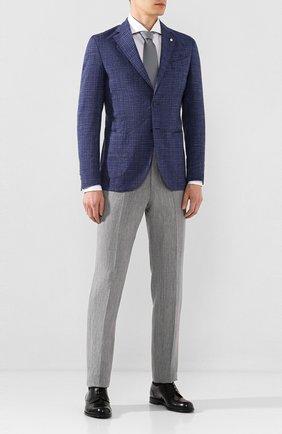 Мужской пиджак из смеси шерсти и льна L.B.M. 1911 темно-синего цвета, арт. 2887/05821 | Фото 2