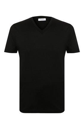 Мужская хлопковая футболка GRAN SASSO черного цвета, арт. 60192/74001 | Фото 1