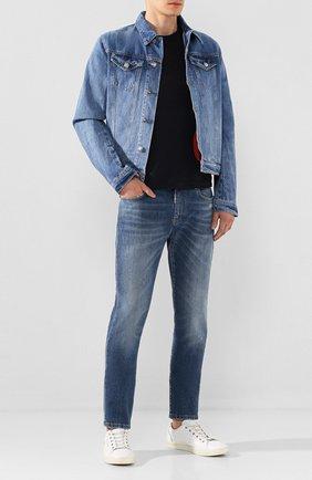 Мужская джинсовая куртка 2 MEN JEANS синего цвета, арт. CLIFF/YNG4Y | Фото 2