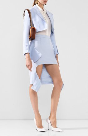 Женский шерстяной жакет BURBERRY голубого цвета, арт. 4564235 | Фото 2