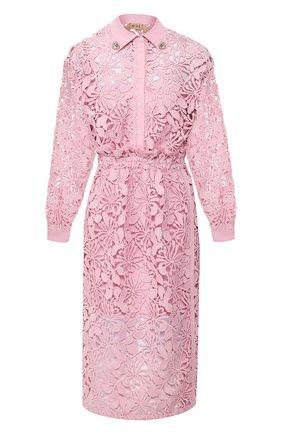 Женское платье-миди N21 розового цвета, арт. 20E N2M0/H291/5262 | Фото 1