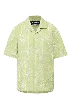 Женская рубашка JACQUEMUS зеленого цвета, арт. 201SH21/04553 | Фото 1