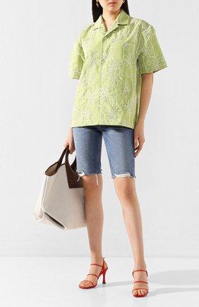 Женская рубашка JACQUEMUS зеленого цвета, арт. 201SH21/04553 | Фото 2
