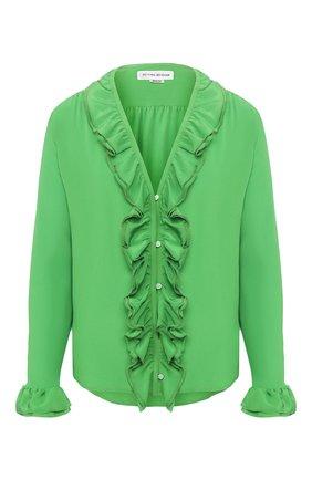 Женская шелковая блузка VICTORIA BECKHAM зеленого цвета, арт. 1220WSH001217B | Фото 1