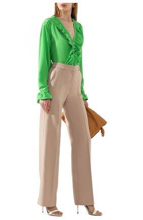 Женская шелковая блузка VICTORIA BECKHAM зеленого цвета, арт. 1220WSH001217B | Фото 2