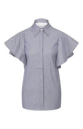 Женская хлопковая рубашка VICTORIA, VICTORIA BECKHAM синего цвета, арт. 2120WSH000880A | Фото 1