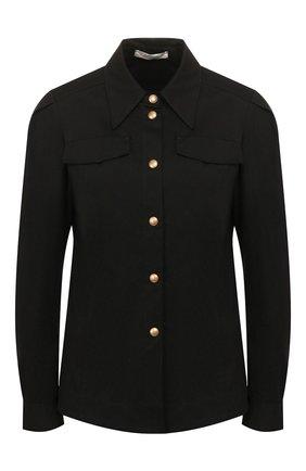 Женская хлопковая рубашка DOROTHEE SCHUMACHER черного цвета, арт. 743106/DESERT ADVENTURES | Фото 1