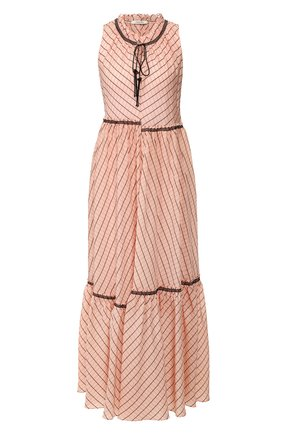 Женское платье-макси DOROTHEE SCHUMACHER розового цвета, арт. 748103/CHECKED TRANSPAR | Фото 1