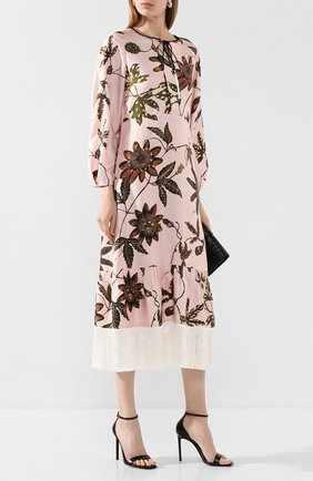 Женское шелковое платье DOROTHEE SCHUMACHER розового цвета, арт. 749602/P0WERFUL FL0RA | Фото 2