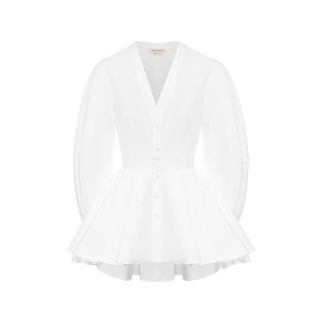 Хлопковая блузка Alexander McQueen