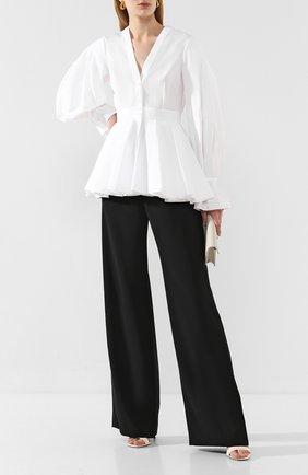 Женская хлопковая блузка ALEXANDER MCQUEEN белого цвета, арт. 620373/QAAAD | Фото 2