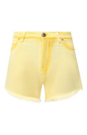 Женские джинсовые шорты TWO WOMEN IN THE WORLD желтого цвета, арт. D0NY/YHR4A | Фото 1