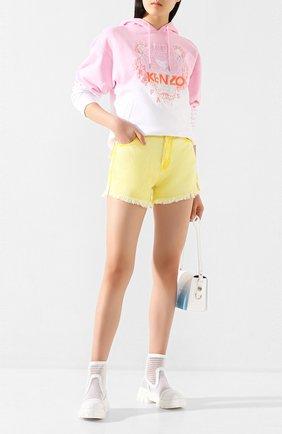 Женские джинсовые шорты TWO WOMEN IN THE WORLD желтого цвета, арт. D0NY/YHR4A | Фото 2