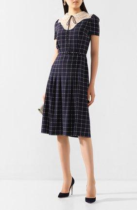 Женское шелковое платье RALPH LAUREN темно-синего цвета, арт. 290798073   Фото 2