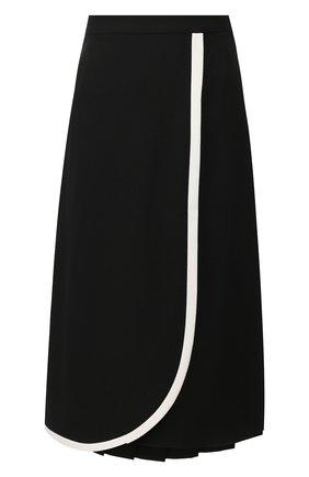 Женская шерстяная юбка ALESSANDRA RICH черного цвета, арт. FAB2114-F2333 | Фото 1