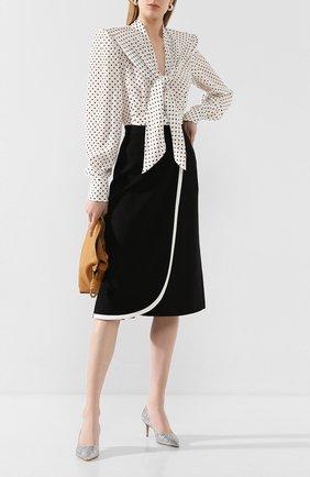 Женская шерстяная юбка ALESSANDRA RICH черного цвета, арт. FAB2114-F2333 | Фото 2