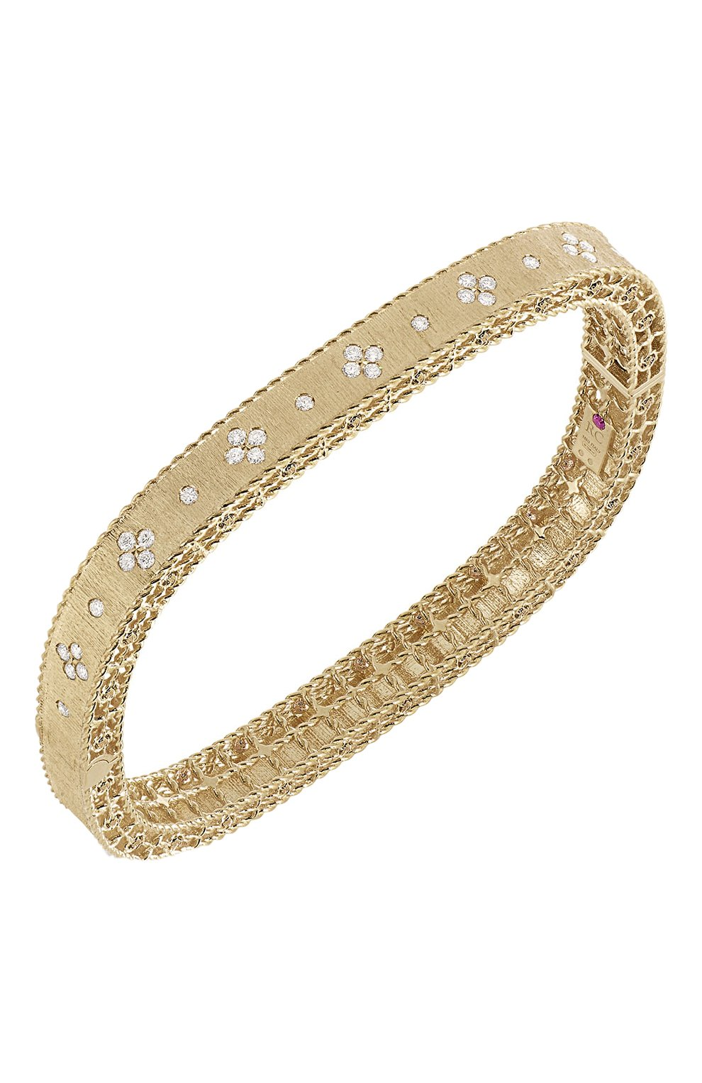 Женский браслет ROBERTO COIN бесцветного цвета, арт. ADR777BA0551_01 | Фото 1 (Драгоценные камни: Бриллианты; Материал сплава: Розовое золото)