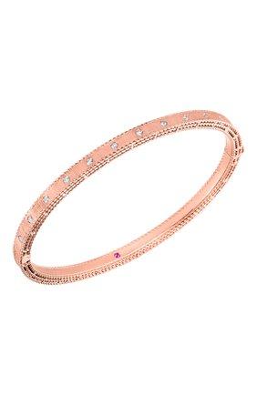 Женский браслет ROBERTO COIN бесцветного цвета, арт. ADR777BA1074_01 | Фото 1 (Драгоценные камни: Бриллианты; Материал сплава: Розовое золото)