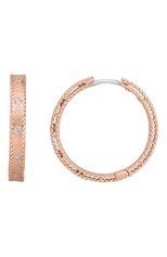 Женские серьги ROBERTO COIN бесцветного цвета, арт. ADR777EA1074   Фото 1 (Материал сплава: Розовое золото; Драгоценные камни: Бриллианты)
