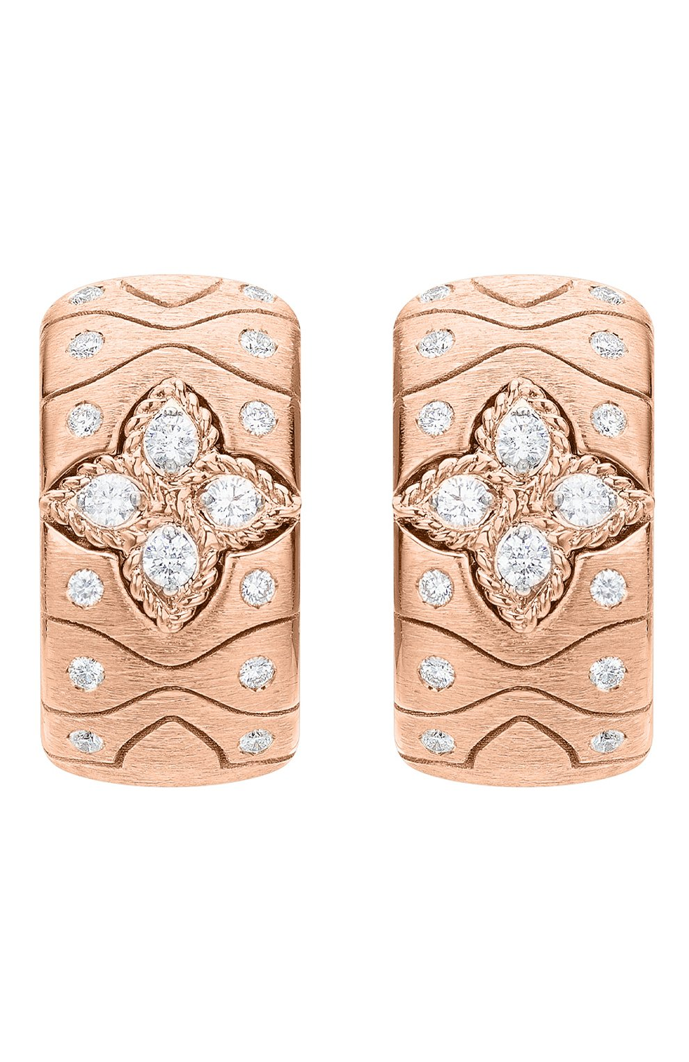 Женские серьги ROBERTO COIN розового и белого золота цвета, арт. ADR777EA2956   Фото 1