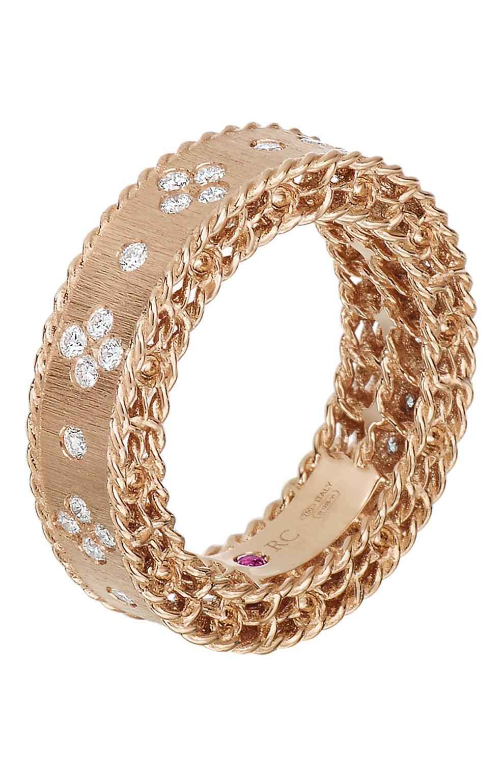 Женские кольцо ROBERTO COIN розового золота цвета, арт. ADR777RI0552 | Фото 1
