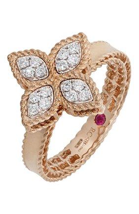 Женские кольцо ROBERTO COIN розового и белого золота цвета, арт. ADR777RI0639 | Фото 1