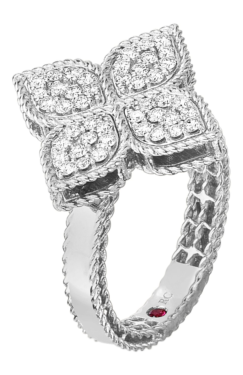 Женские кольцо ROBERTO COIN белого золота цвета, арт. ADR777RI0643   Фото 1
