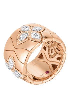 Женские кольцо ROBERTO COIN розового и белого золота цвета, арт. ADR777RI2869 | Фото 1