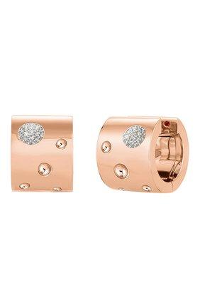 Женские серьги ROBERTO COIN розового и белого золота цвета, арт. ADR888EA1634 | Фото 1