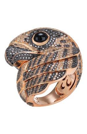 Женские кольцо ROBERTO COIN розового и черненого золота цвета, арт. ADV206RI0384_IC3 | Фото 1