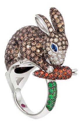 Женские кольцо ROBERTO COIN белого золота цвета, арт. ADV378RI0036 | Фото 1
