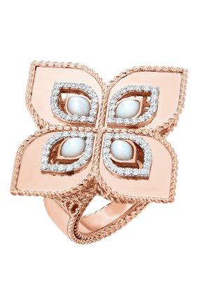 Женские кольцо ROBERTO COIN розового и белого золота цвета, арт. ADV777RI1138 | Фото 1
