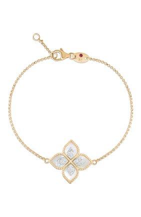 Женский браслет ROBERTO COIN розового и белого золота цвета, арт. ADV888BR1837_02 | Фото 1