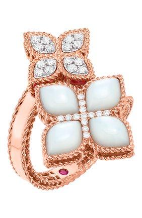 Женские кольцо ROBERTO COIN розового и белого золота цвета, арт. ADV888RI1571 | Фото 1