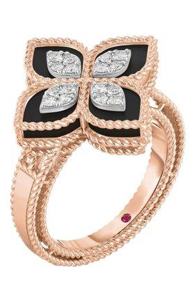 Женские кольцо ROBERTO COIN бесцветного цвета, арт. ADV888RI1837   Фото 1 (Материал сплава: Белое золото, Розовое золото; Драгоценные камни: Рубины, Бриллианты)