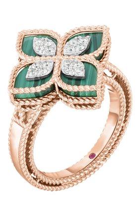 Женские кольцо ROBERTO COIN розового и белого золота цвета, арт. ADV888RI1837_01 | Фото 1