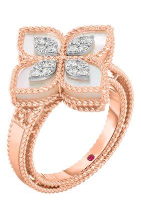 Женские кольцо ROBERTO COIN розового и белого золота цвета, арт. ADV888RI1837_02 | Фото 1