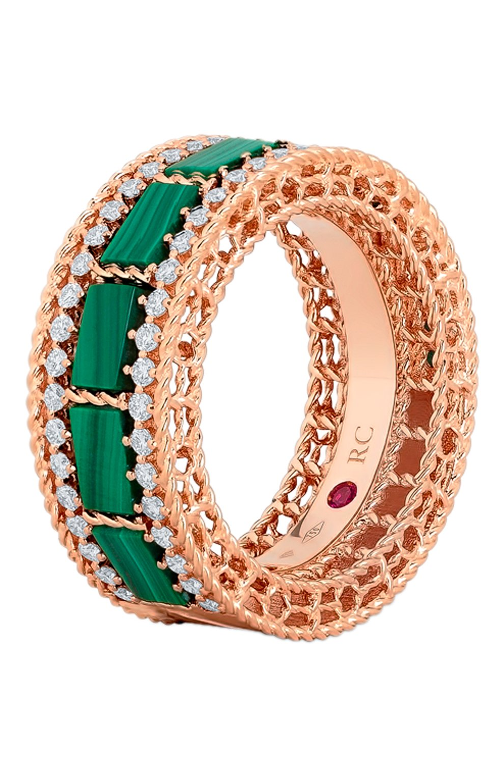 Женские кольцо ROBERTO COIN розового золота цвета, арт. ADV888RI1851   Фото 1