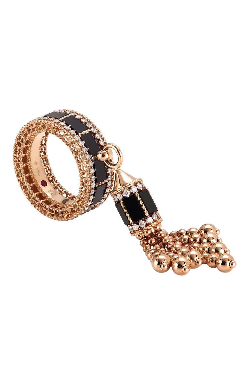 Женские кольцо ROBERTO COIN бесцветного цвета, арт. ADV888RI1983 | Фото 1 (Драгоценные камни: Бриллианты, Другие; Материал сплава: Розовое золото)