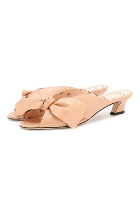 Женские кожаные мюли FENDI розового цвета, арт. 8R7030 A8U0 | Фото 1