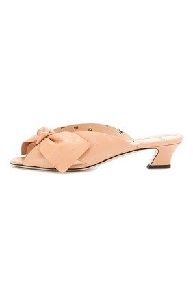 Женские кожаные мюли FENDI розового цвета, арт. 8R7030 A8U0 | Фото 3
