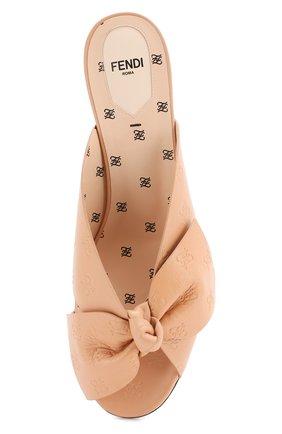 Женские кожаные мюли FENDI розового цвета, арт. 8R7030 A8U0 | Фото 5