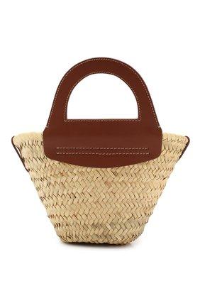 Женская сумка cabas mini HEREU коричневого цвета, арт. CABAS MINI/WBR20CANI003 | Фото 1