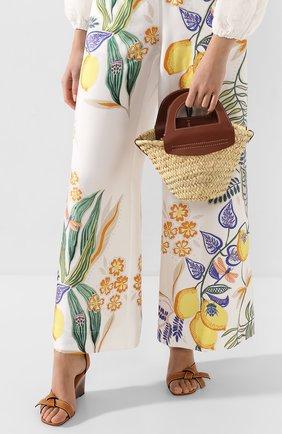 Женская сумка cabas mini HEREU коричневого цвета, арт. CABAS MINI/WBR20CANI003 | Фото 2