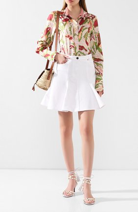 Женские кожаные босоножки  valentino garavani rockstud flair VALENTINO белого цвета, арт. TW0S0X90/HYH | Фото 2
