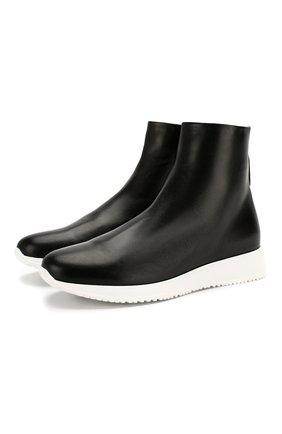 Женские кожаные ботинки hamilton GIANVITO ROSSI черного цвета, арт. S73460.W1WHT.CFGNER0 | Фото 1