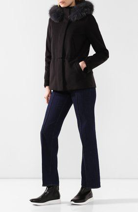 Женские кожаные ботинки hamilton GIANVITO ROSSI черного цвета, арт. S73460.W1WHT.CFGNER0 | Фото 2